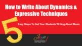MUSIC - How to Write About Dynamics - FREE Training Video