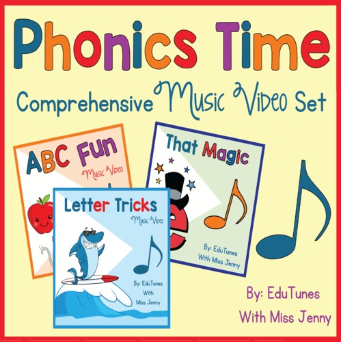 Phonics Time COMPLETE Set  Distance Learning  Homeschool Compatible