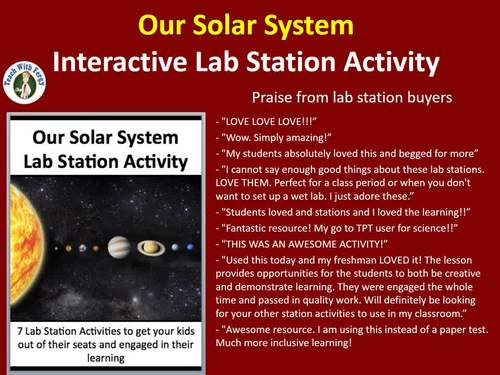 Our Solar System - 7 Engaging Lab Station Activities
