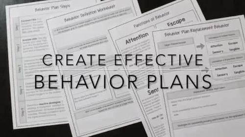 Behavior Plan Flow Charts and Tools