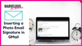Inserting a Photo Email Signature in GMail {Video}