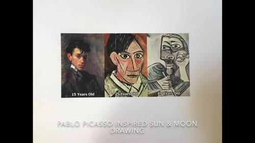 Picasso Inspired Sun & Moon Virtual Drawing Tutorial
