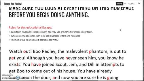 To Kill a Mockingbird Escape the Room