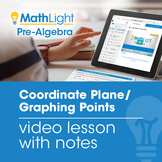 Coordinate Plane / Graphing Points Video Lesson | Good for