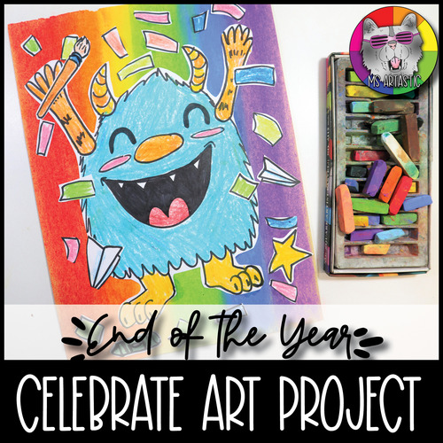 End of Year Art Lesson, Celebrate School's Out Art Project