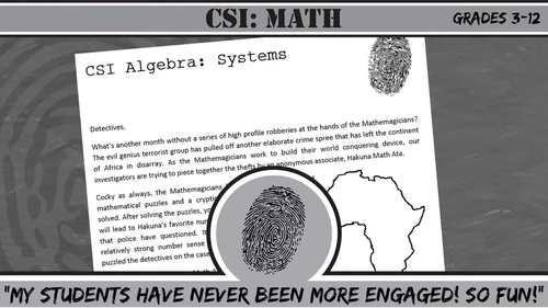 CSI: Algebra -- Unit 9 -- Factoring & Quadratics -- Crime Scene