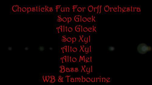 Chopsticks Fun For Orff Orchestra