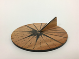 Upcycled Wood Sundial