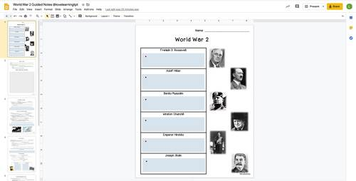 World War 2 Unit for Distance Learning