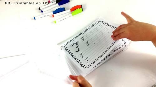 Practice Handwriting Booklets: Prewriting, Printing, and Cursive