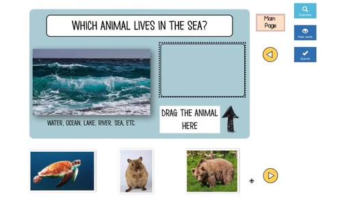 Animal BOOM Cards™ - Drag & Drop - Which Animal Lives Here?