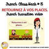 """15 French Class Transition Video """"Return to Your Seat"""" for"""