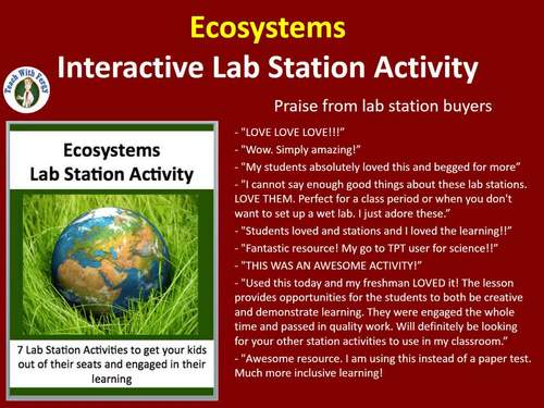 Ecosystems - 7 Engaging Lab Station Activities