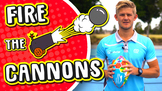 Exciting PE throwing skills game › 'Fire the cannons'  Fun