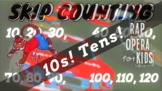 """""""10s Racing"""" Skip Counting by 10s Rap Song - The Math Anim"""
