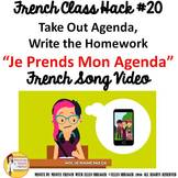 """20 French Class Transition Video """"Take Out My Agenda"""" for"""