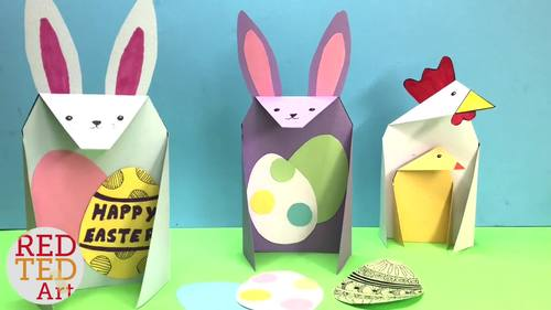 Easter STEAM Activity - Exploring Triangles with 3d Chick Cards (Lesson Plan)
