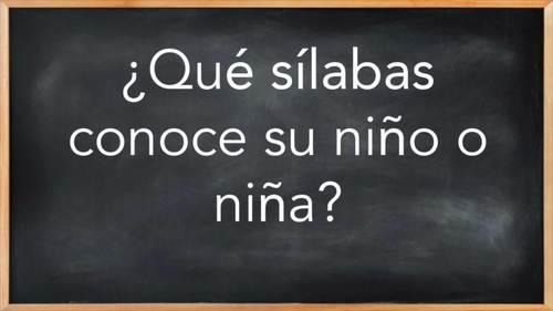 LAS SÍLABAS - Español - The syllables in spanish -  Lección 1.3