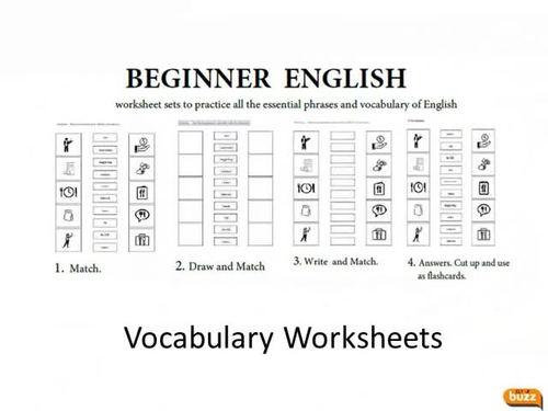 Math - Vocabulary Worksheets