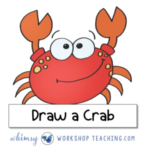 Directed Drawing Video - How To Draw A Crab - Draw Along With Me!