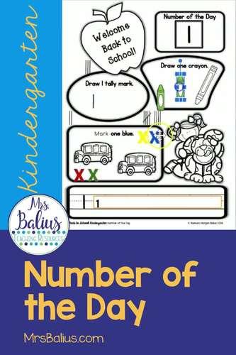 Digital Number Sense Google Slides™ Math Kindergarten Number of the Day BTS