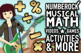 Musical Common Core & TEKS Math Review Program for 3rd-5th