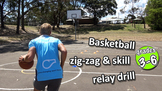 Zig-zag & skill: Dribble relay drill | Teach Basketball Skills
