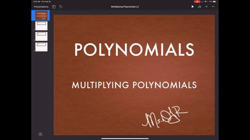 ALGEBRA BLENDED LEARNING LESSON: Multiplying Polynomials