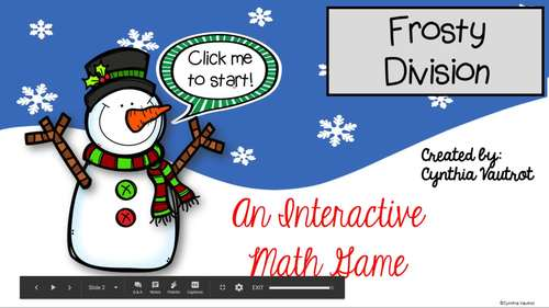 Christmas Digital Interactive Game for Division Facts