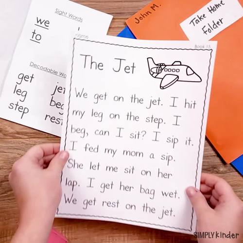 Decodable Readers - Emergent Readers with Homework