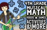 Musical 4th Grade Common Core & TEKS Math Review Program w