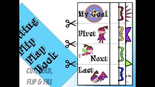 Super Hero Goal Setting Flip Flap Book