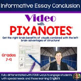 Informative Essay Video Lesson for Conclusion with Pixanotes!
