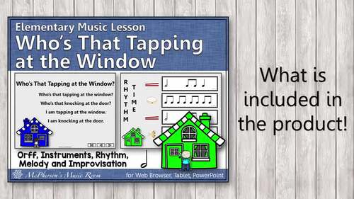 Orff Arrangement ~ Who's That Tapping at the Window Orff, Rhythm & Improvisation