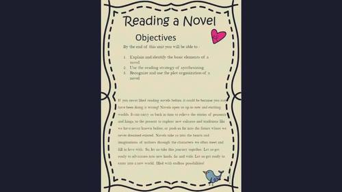 The Reading Process: Reading a Novel, for Middle School Kids!