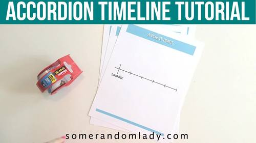 Book of Centuries - Printable Blank Timeline, Ancient History to Present Time
