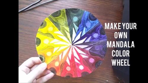 Mandala Color Wheel Art Lesson Painting Acrylic Geometry Project Printable