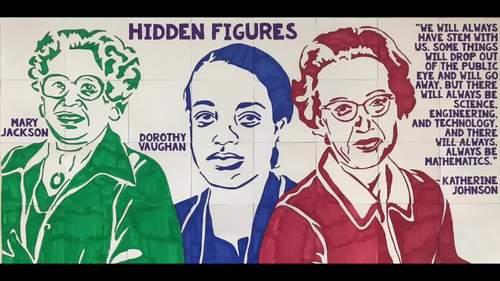 Hidden Figures Collaboration Poster (Katherine Johnson) | Women's History Month