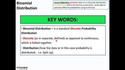 Binomial Distribution 1 - Investigation & Introduction