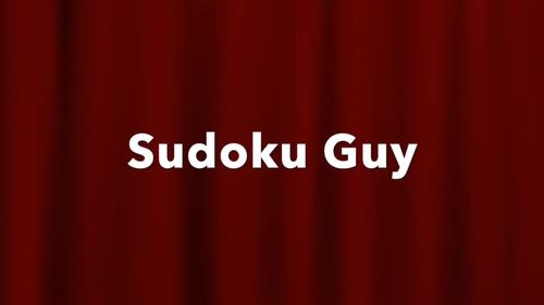 Fun with Sudoku Guy (K-Gr3, LESSON 7):  Real easy sudoku puzzles.