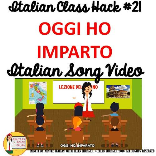 Italian Transition Video Today I Learned  for CI TCI TPRS 90% Target Language