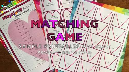 Valentine's Day: Algebra Simplifying Exponents Matching Game
