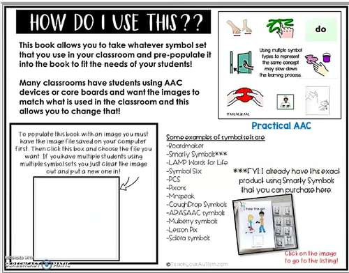 Core Vocabulary Editable Symbol Adapted Book: HELP