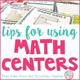 Math Centers and Guided Math Groups FREE Tips Video