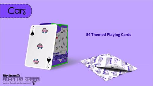 Cars Themed Playing Cards Deck