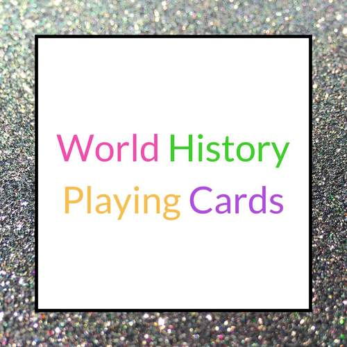 World History Playing Cards: Middle Ages Bundle