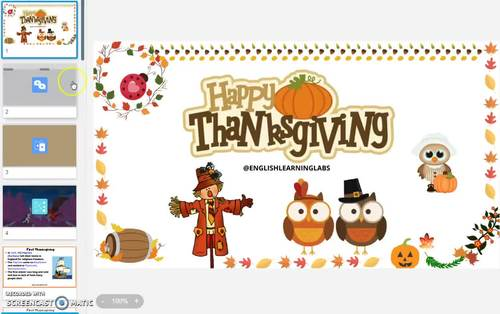 Thanksgiving Smart-board Activity and Learning Pack