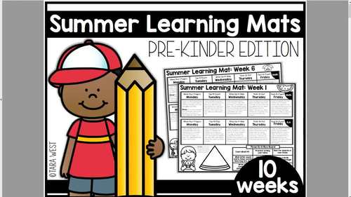 Summer Learning Mats: Pre-K Edition Distance Learning