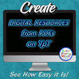 How to Create a Digital Resource from a PDF on Teachers Pa