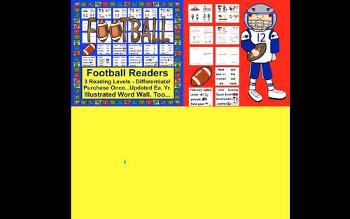 Football Mini Books:  Updated for Super Bowl 2020  -3 Levels & Word Wall w/Pics